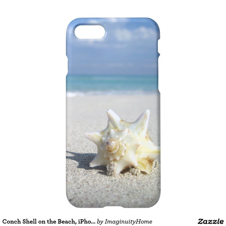 Conch Shell on the Beach, iPhone 7 Case: A beautiful conch shell glistens in the sun overlooking Varadero Beach on Cuba's northern coast. This tranquil image will be sure to brighten your day and make you long to return to the Caribbean. A great way to enjoy and protect your new iPhone 7!