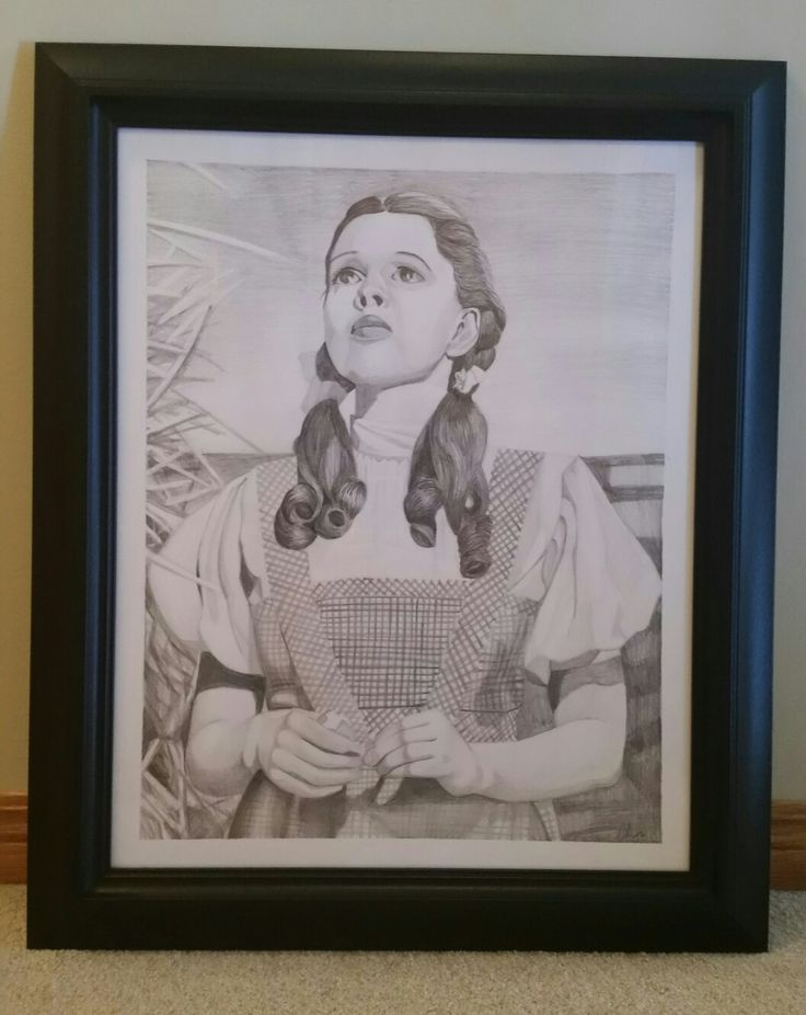 Dorothy Wizard of OZ Pencil Drawing Catherine McMurray