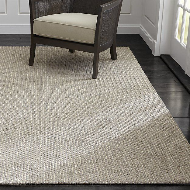 An intriguing weave of natural undyed wool and sisal fiber from the agave plant…