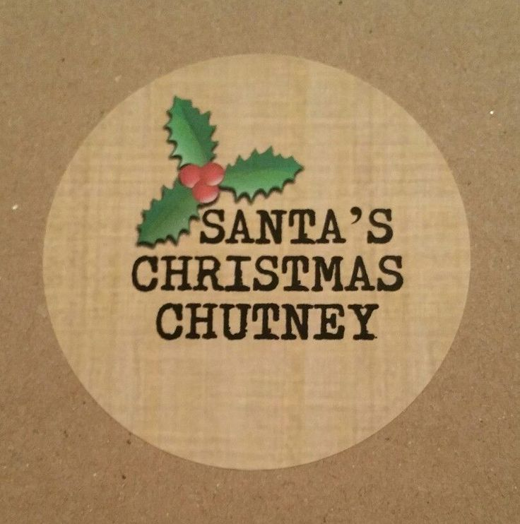 SANTAS CHRISTMAS CHUTNEY STICKERS JAM POT JAR HOMEMADE LABELS PERSONALISED LABEL | Home, Furniture & DIY, Food & Drink, Jams/ Preserves | eBay!