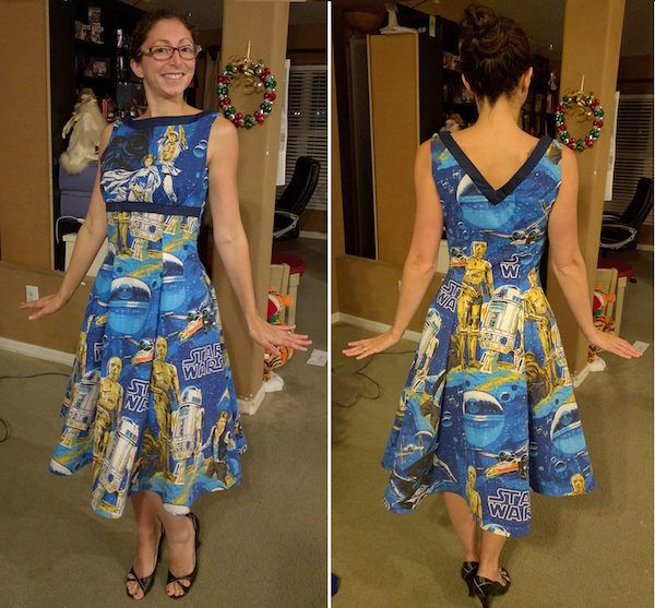 Wife Turns Her Husband's Star Wars Sheets Into Awesome Clothes
