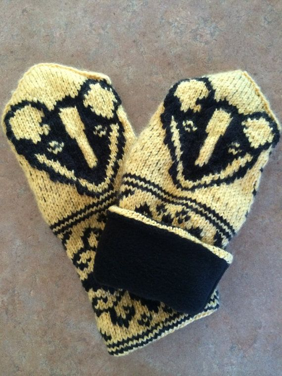 Lined Mittens Knitting Pattern : Mittens hand knit fleece lined with a traditional shape, Women size medium. Y...