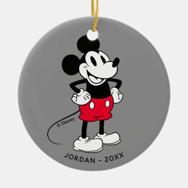 Classic Mickey Mouse A True Original Ceramic Ornament Mickey Classic Vintage Disney Classicmick Classic Mickey Mouse Mickey Mouse Christmas Mickey Mouse