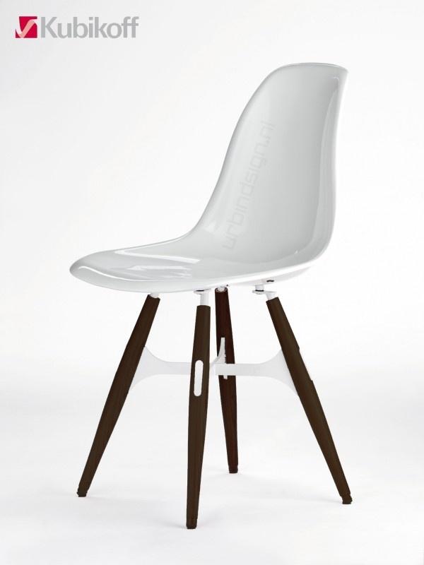 Zigzag chair - Kubikoff. Kuipstoel - Hoogglans wit