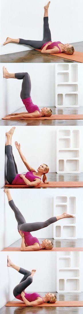Exercices contre un mur pour préserver son périnée