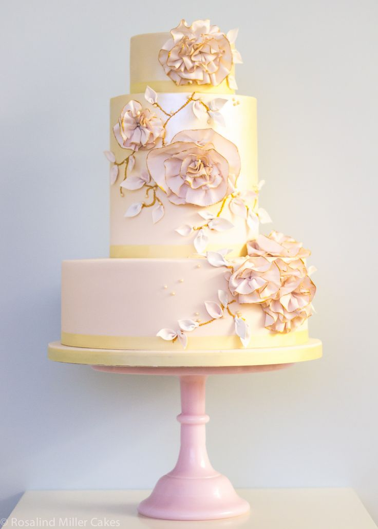 Ruffled Flowers Wedding Cake is so pretty