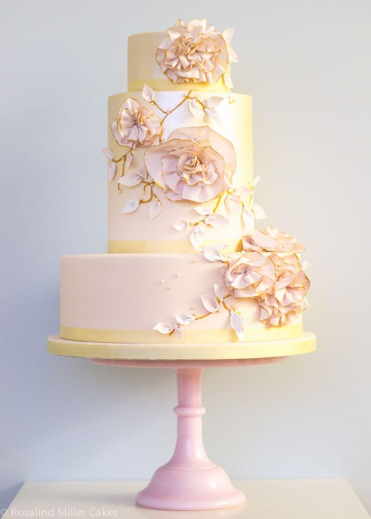Ruffled Flowers Wedding Cake is so pretty