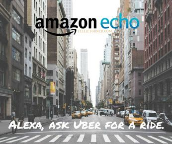 The Uber skill for Alexa just got an upgrade. In addition to your Amazon Echo device location, you can now ask to be picked up from the Home or Work address in your Uber app. To get started, enable the Uber skill in your Alexa App and link your Uber account.  www.teelieturner.com #amazonecho