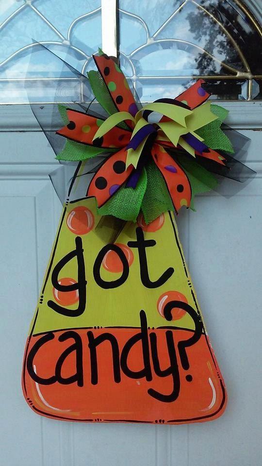 Early Christmas Sale!!!! Buy 3 door hangers get 1 free!!! Sale ends Nov.1, 2015 Candy Corn Door Hanger, halloween door hanger