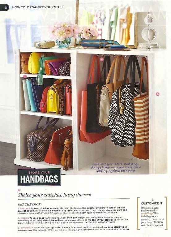 Store Your Handbags: Shelve Your Clutches U0026 Hang The Rest.must Do With Extra  Closet Space For Purses U0026 Diaper Bags!