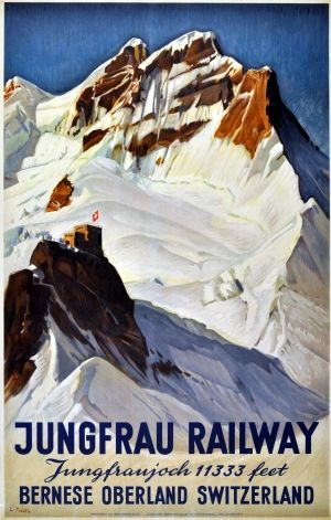 Ernst Hodel 1936 Jungfrau Railway Montreux Oberland Bernois