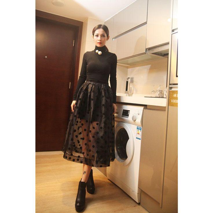 ОЙ Моды Высокой Талией Юбки Женская Черный Тюль Принцесса Сетки органза юбка Горошек Бальное платье Saias Femininas Плюс Размер 368 купить на AliExpress