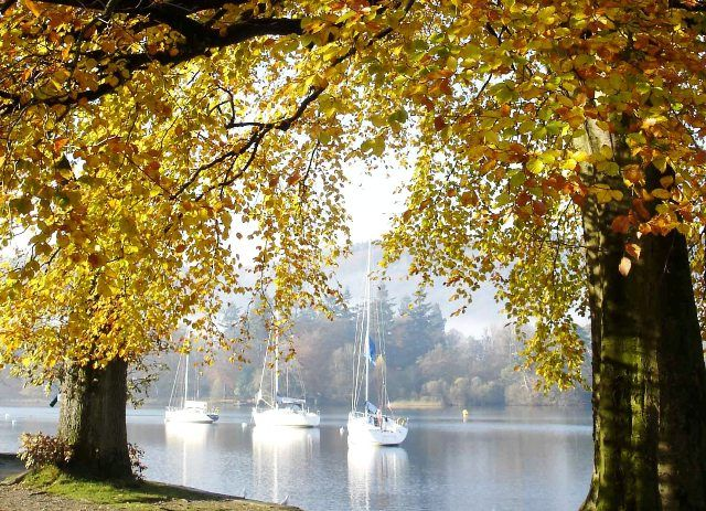 """To Autumn"" - in praise of a season of bountiful beauty - Windermere in the Lake District Cumbria"
