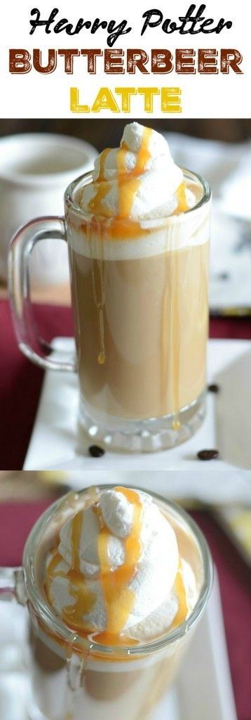 Butterbeer latte recipe!  This easy recipe is inspired by Harry Potter!