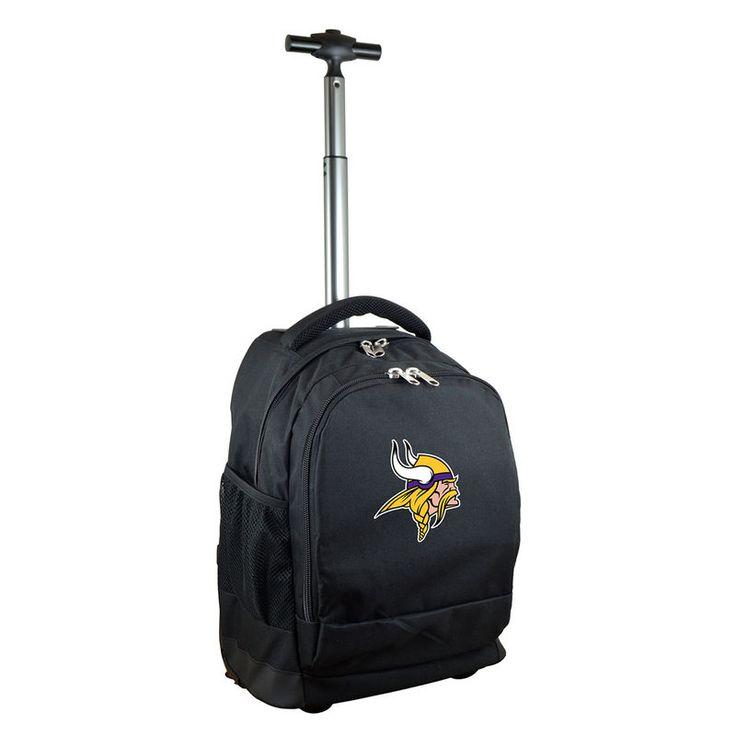 Minnesota Vikings 19'' Premium Wheeled Backpack - Black