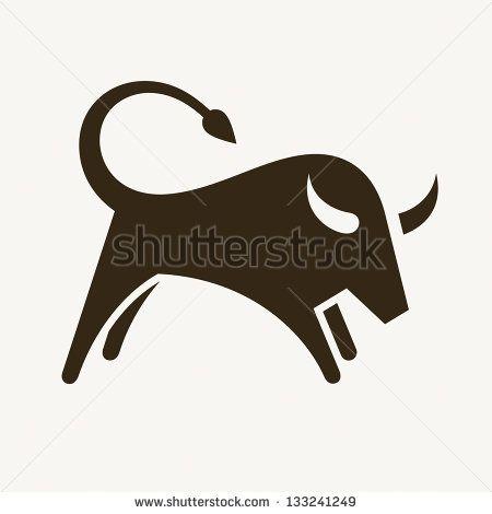 Bull, abstract vector illustration - stock vector