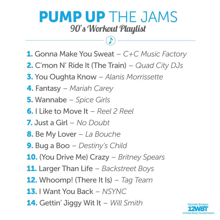 Who worked out to my '80s playlist? I've got a '90s one for your next sweat sesh!