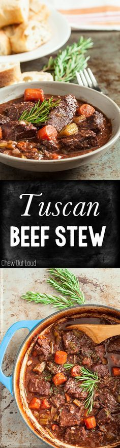This Tuscan Style Beef Stew is hearty and mouthwatering. Incredibly tender, this stew tastes even better the next day.