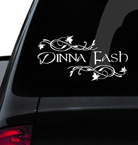 10 custom window car decal dinna fash dinna fash vinyl dinna fash decal