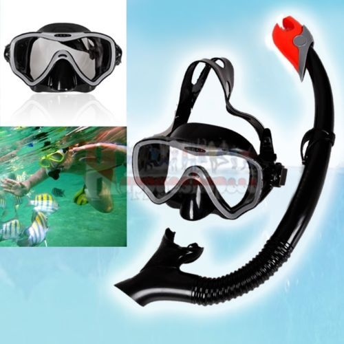 #Black scuba diving #swimming mask goggles tempered glass dry #snorkel #snorkeling,  View more on the LINK: 	http://www.zeppy.io/product/gb/2/281342053305/