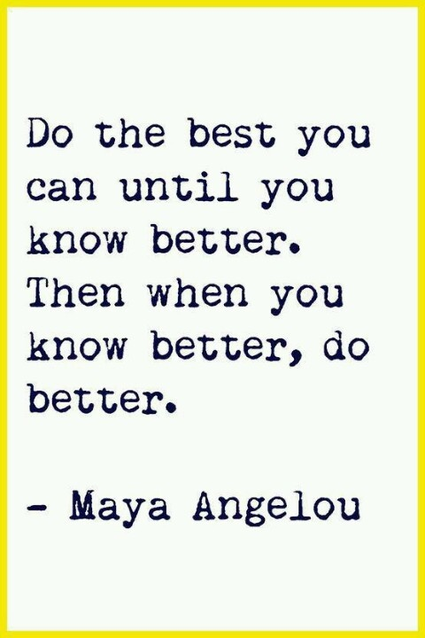 Know better to do better!