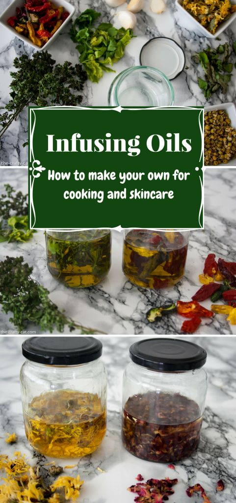 A simple guide to infusing oils for cooking and skincare using sun or heat infusion.