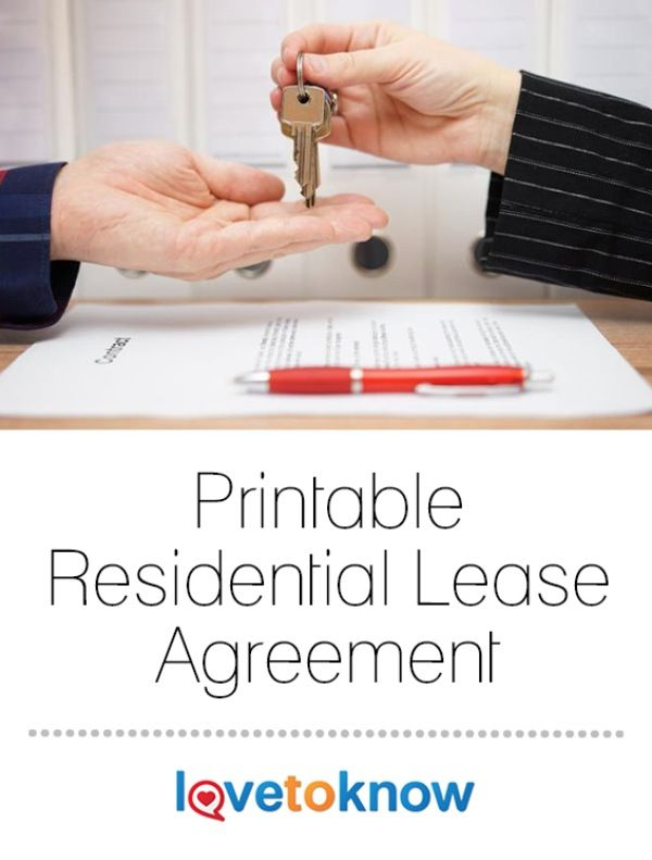 The printable residential lease provided here is a good guide to use for the simple rental of a residential property, though it is provided for informational purposes only. This article should not be construed as legal advice. Legal requirements for leases vary significantly from one state to another, so you should consult with an attorney licensed in your state before entering into any legal transaction or preparing any legal instrument. | Printable Residential Lease Agreement from #LoveToKnow