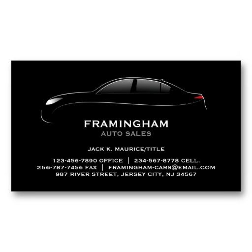 9 best business card voiture images on pinterest automobile auto sale bold business card reheart Choice Image