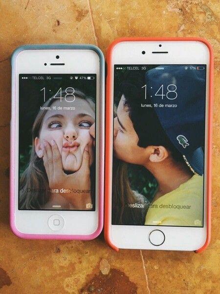 фотография на два телефона тем