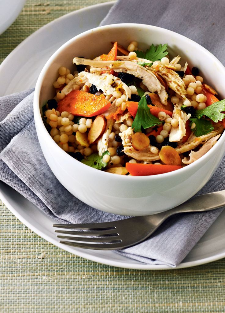 Israeli Couscous Salad With Turkey and Honey-Roasted Carrots