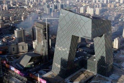 Здание центрального тв в Китае