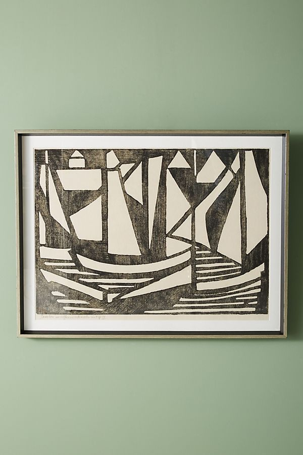 Slide View 2 Woodcut Boats Wall Art Boat Wall Art Boat Wall Art Gallery Wall