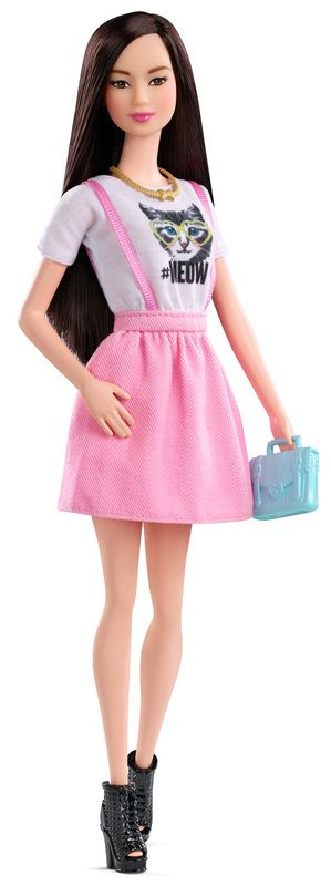 Barbie® Fashionistas® Doll - Pink Jumper and Cat T-Shirt