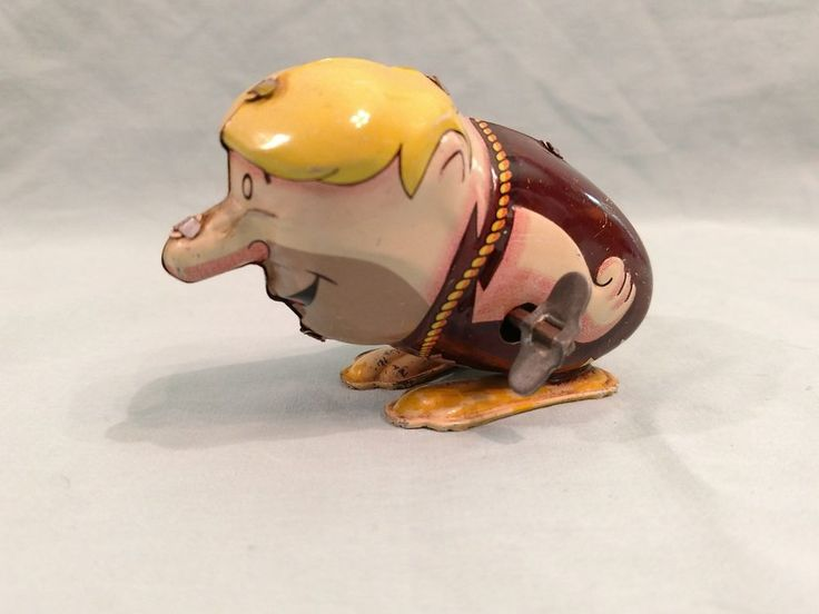 Vintage Barney Rubble Wind-Up Tin Toy Marx #Marx