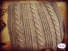 Resultado de imagen para cojines tejidos a dos agujas