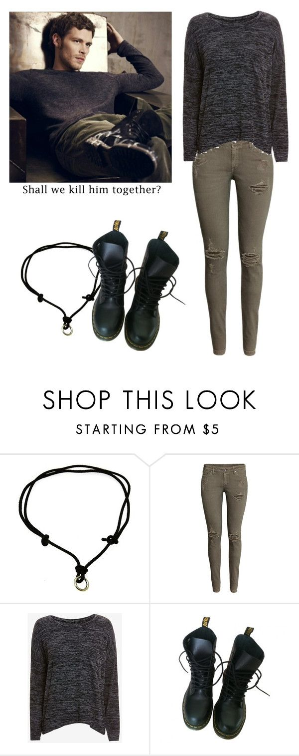 """""""Klaus Mikaelson - tvd / the vampire diaries / the originals"""" by shadyannon ❤ liked on Polyvore featuring H&M, rag & bone/JEAN and Dr. Martens"""