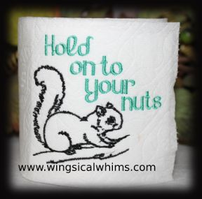 This is a machine embroidery file. Fits the 4 x 4 Hoop Formats include:  PES, HUS, JEF, VIP, DST Terms of Use for this are listed in the Terms Section. Image shows what it looks like stitched out. Digital Download only. Instructions Included  Toilet Paper Does not come with the design
