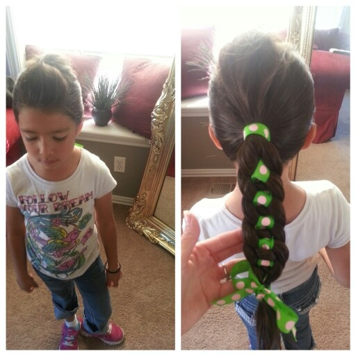 Little girl hairstyle 4 stand braid