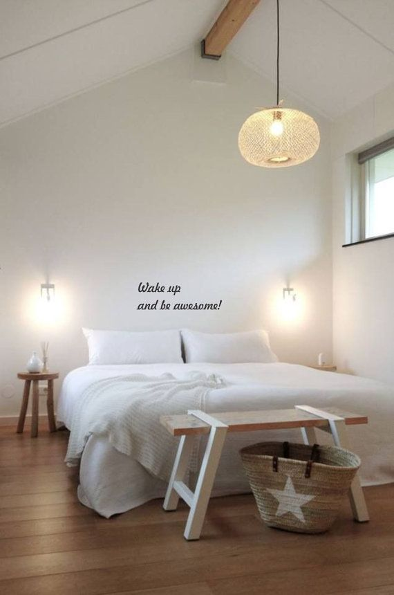 Wall Quote Wake up and Be Awesome. van NovemberIndustries op Etsy