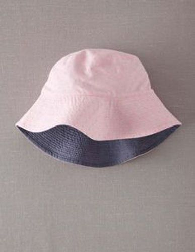 45f70815276 MINI BODEN Chambray Reversible Sun Hat Pink Shrimp White Polka Dot Pinspot  7-10Y  fashion  clothing  shoes  accessories  kidsclothingshoesaccs ...