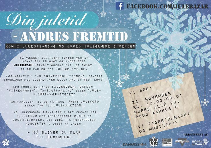 Kom til en anderledes julebazar i centrum af Aarhus!  Der er noget for alle sanser og alle aldersgrupper!