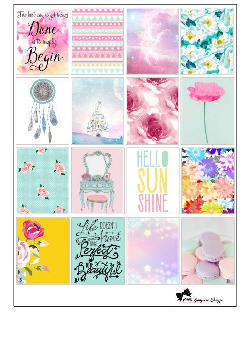 These trendy stickers are great for decoration the daily boxes for Erin Condren…