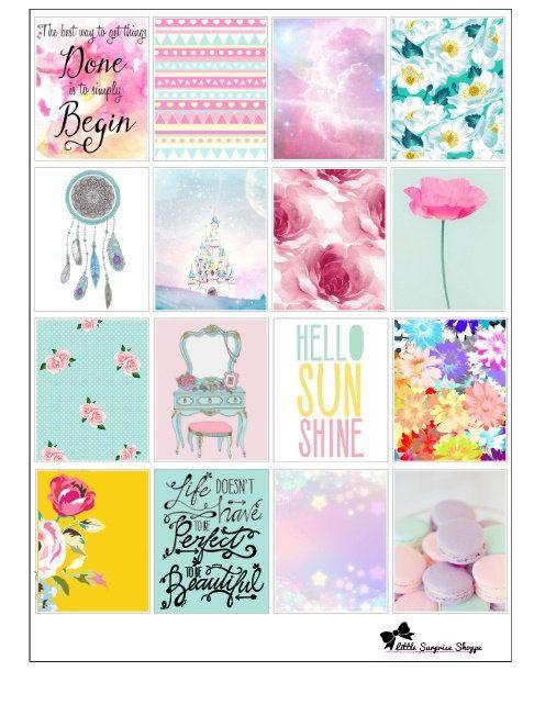 Pastel Dream Stickers- For Erin Condren | استكرات للبلانر ...