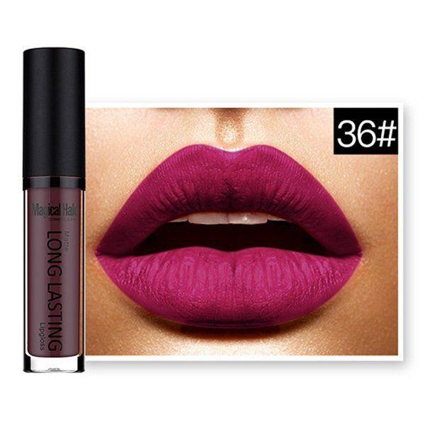 MAGICAL HALO Matte Lip Gloss Long Lasting Waterproof Lipstick Makeup