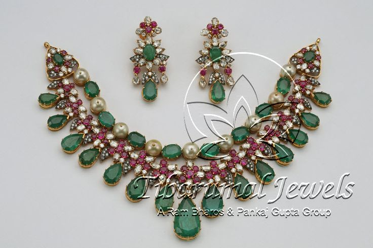 Diamond Necklace Set | Tibarumal Jewels | Jewellers of Gems, Pearls, Diamonds, and Precious Stones