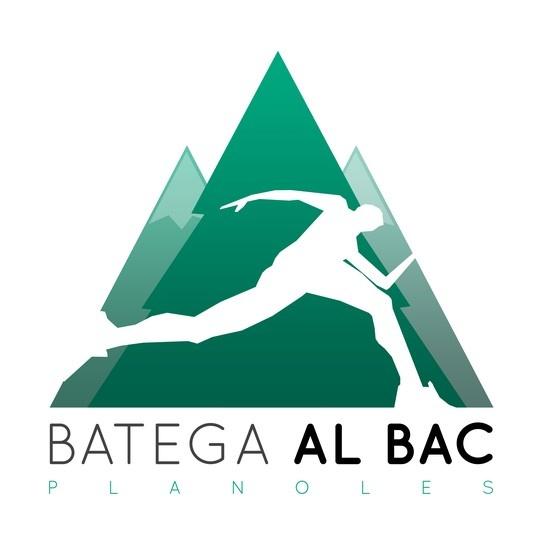 """Logo per a """"Batega al Bac"""". Cursa de muntanya. Planoles."""