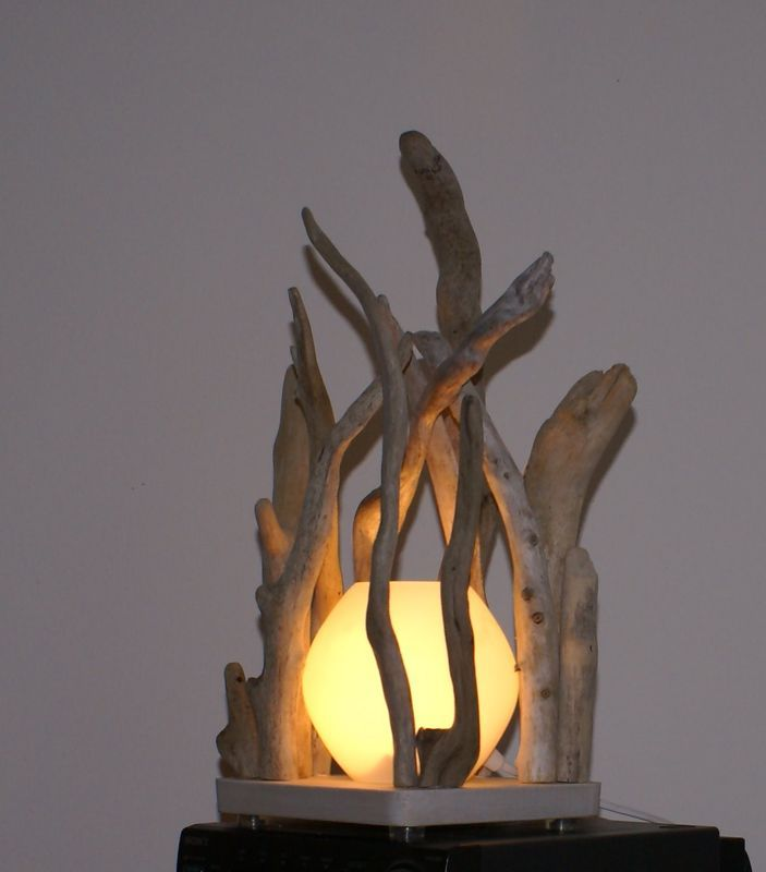 82 best bois flotte images on pinterest drift wood for Chandelier bois flotte