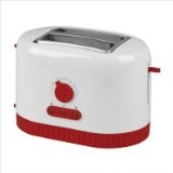 Kalorik Red Fusion 2-Slice Toaster, White/Red
