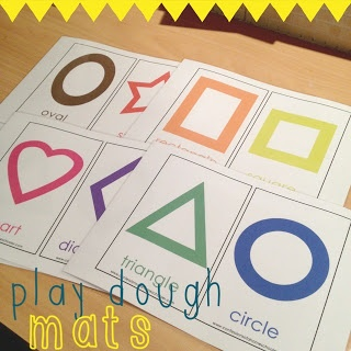 Living on a Latte: Friday's Learning Experiences for Kids: Shapes