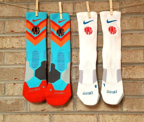 Nike elite socks Monogrammed nike elite by StitchingWithEllie